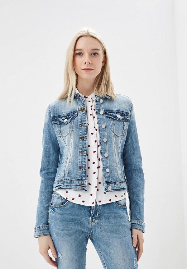 женская джинсовые куртка vila, синяя