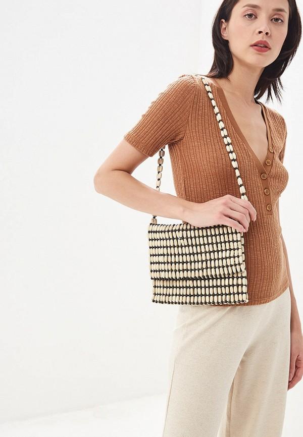 Фото 4 - женскую сумку Violeta by Mango бежевого цвета