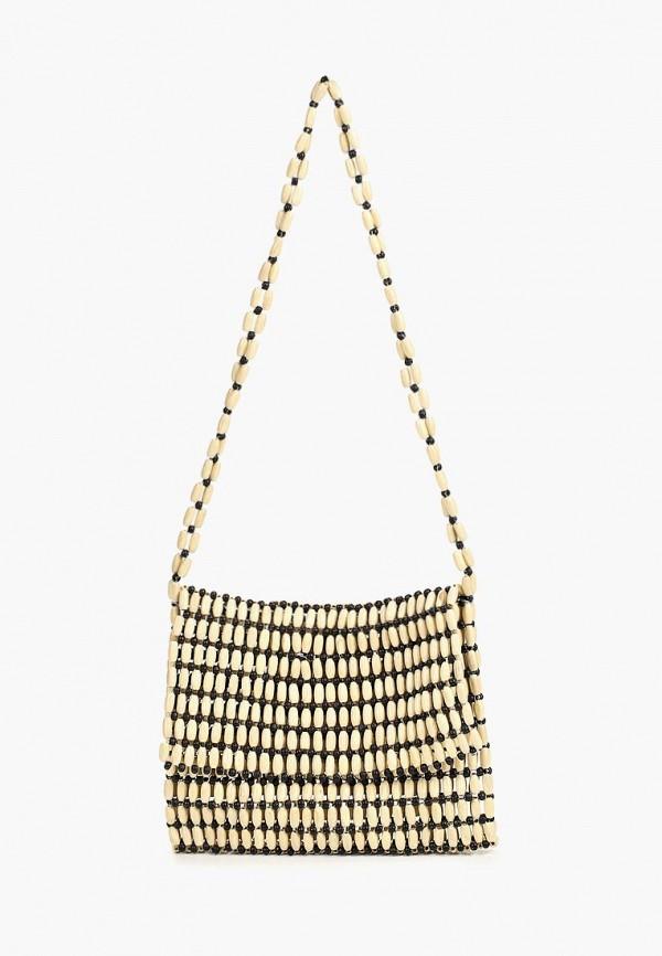 Фото - женскую сумку Violeta by Mango бежевого цвета