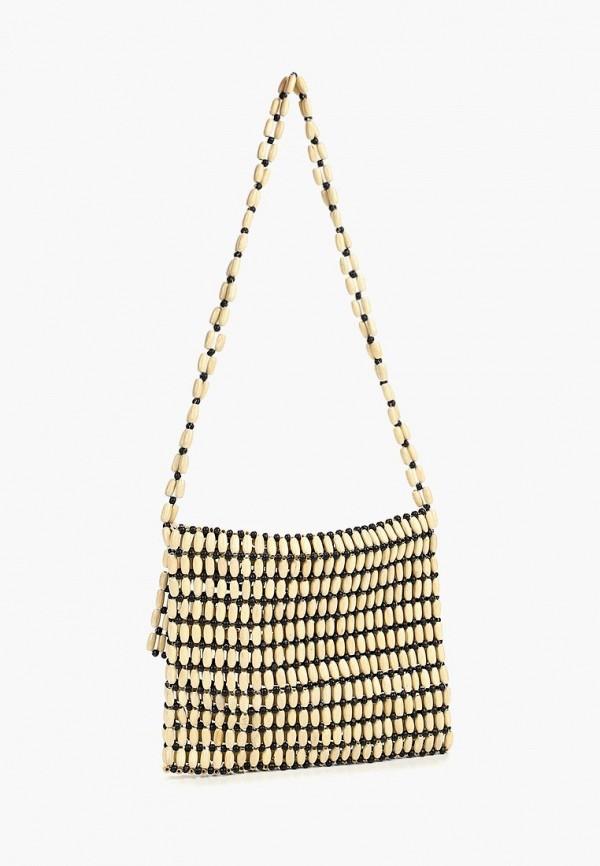 Фото 2 - женскую сумку Violeta by Mango бежевого цвета