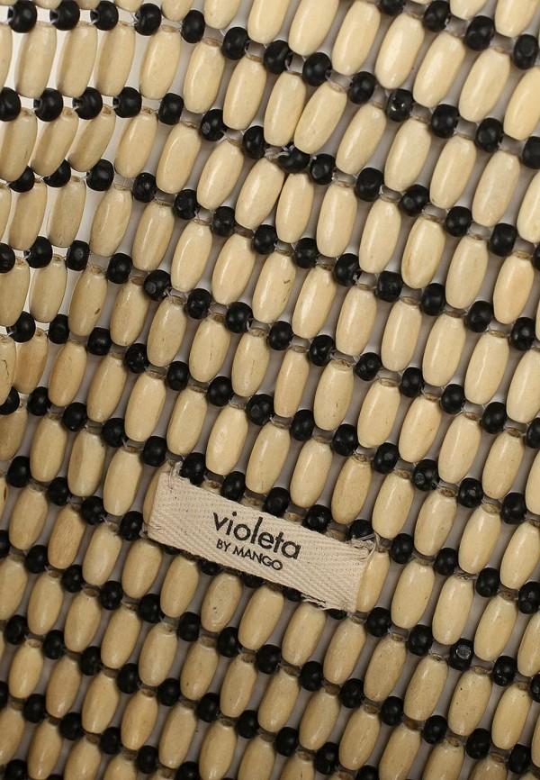 Фото 3 - женскую сумку Violeta by Mango бежевого цвета