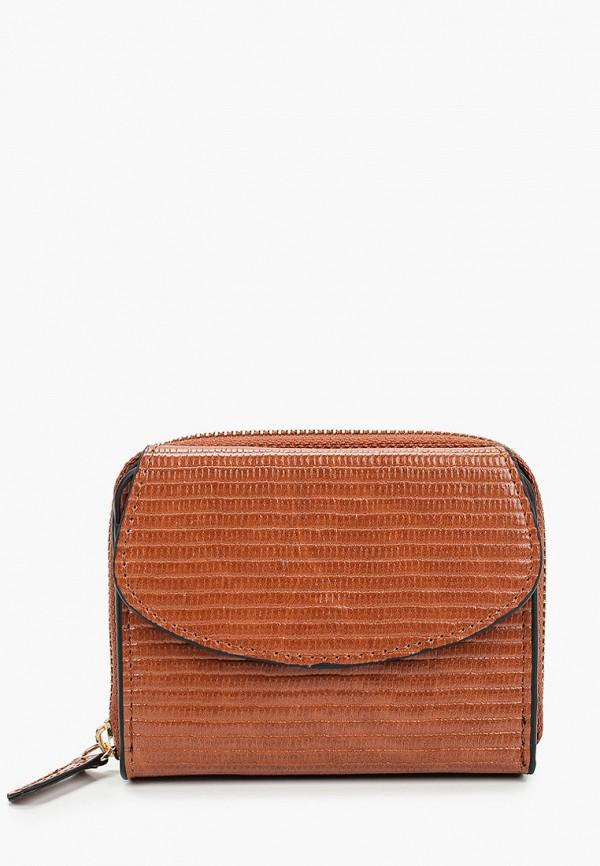 женский кошелёк violeta by mango, коричневый