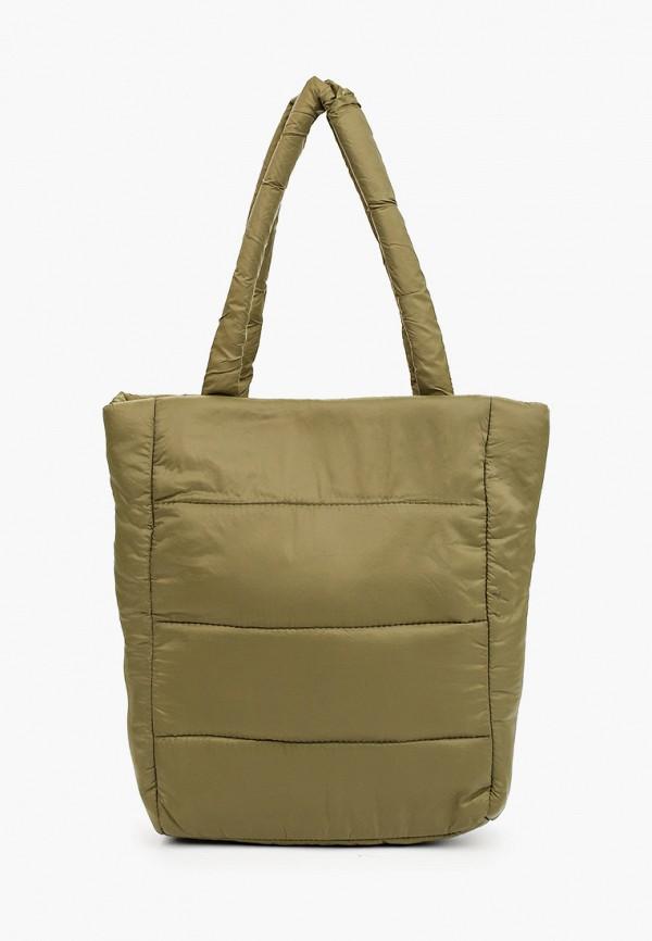 женская сумка-шоперы violeta by mango, хаки