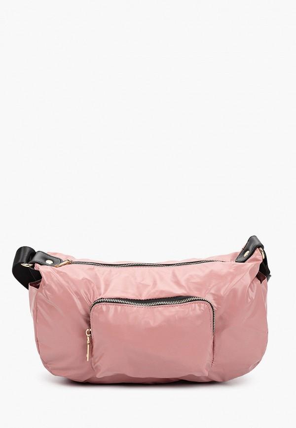 женская сумка violeta by mango, розовая