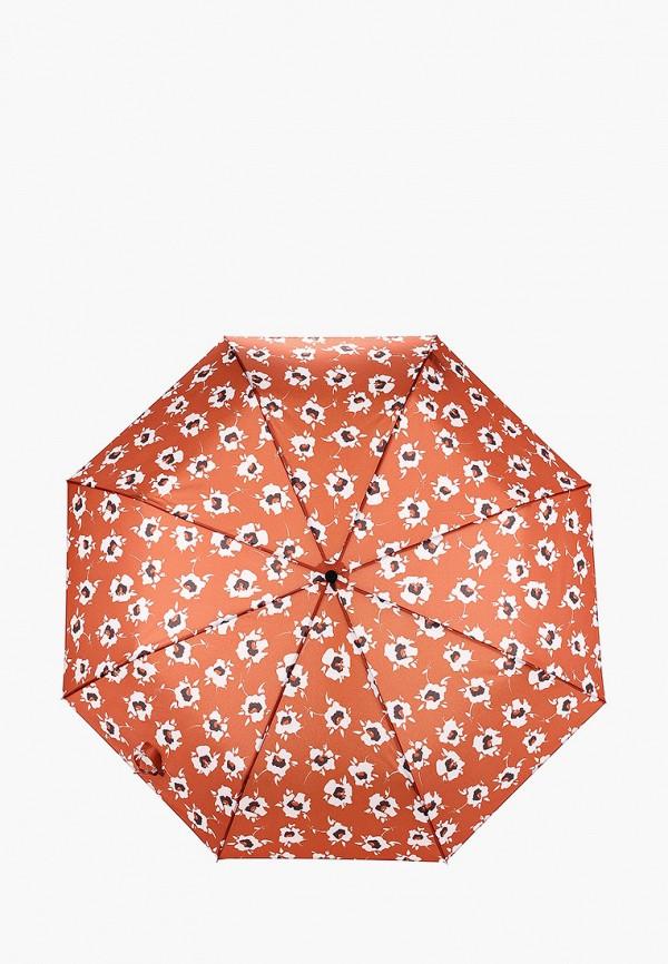 женский складные зонт violeta by mango, коричневый
