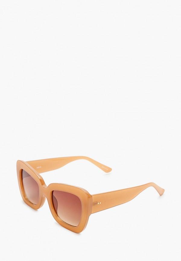 женские солнцезащитные очки violeta by mango, коричневые