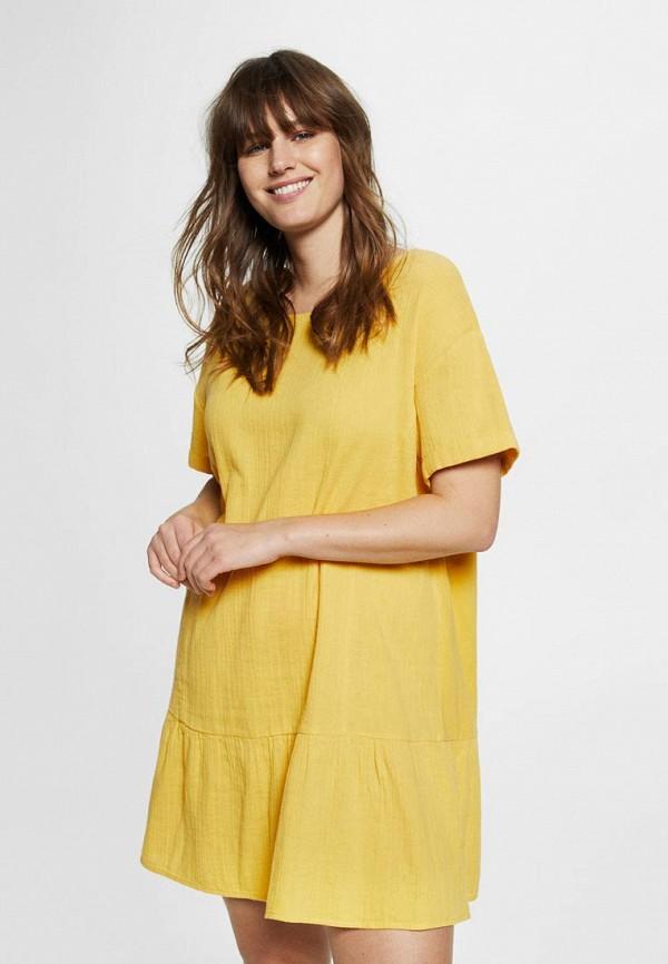 Купить женское платье Violeta by Mango желтого цвета