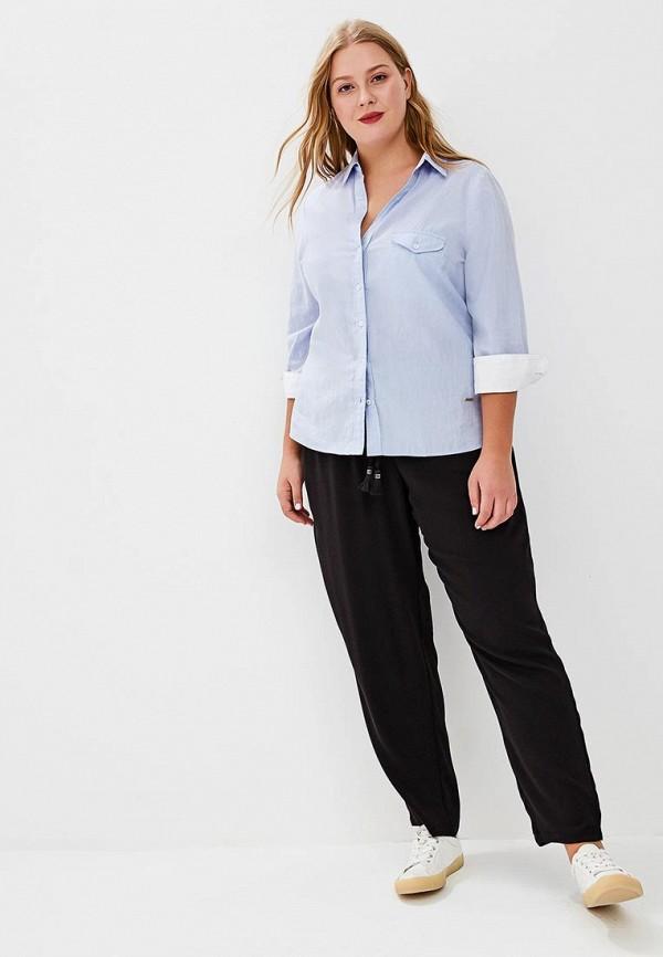 Фото 2 - женские брюки Violeta by Mango черного цвета