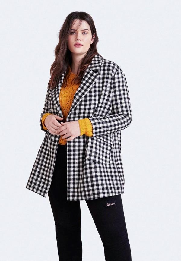 Купить Пальто Violeta by Mango, - CUADRITO, vi005ewdimn1, черный, Осень-зима 2018/2019