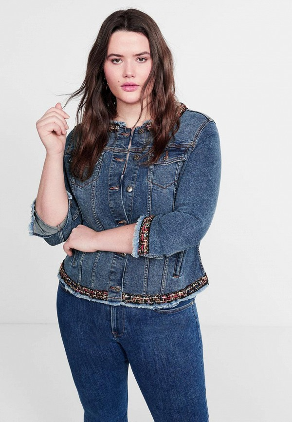 Куртка джинсовая Violeta by Mango Violeta by Mango VI005EWEWOL1 недорго, оригинальная цена