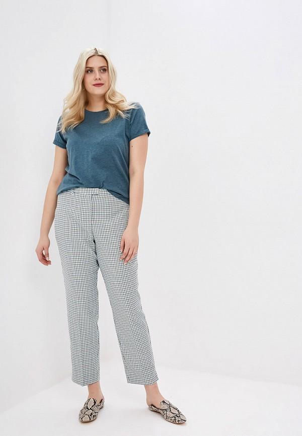 Фото 2 - женские брюки Violeta by Mango зеленого цвета
