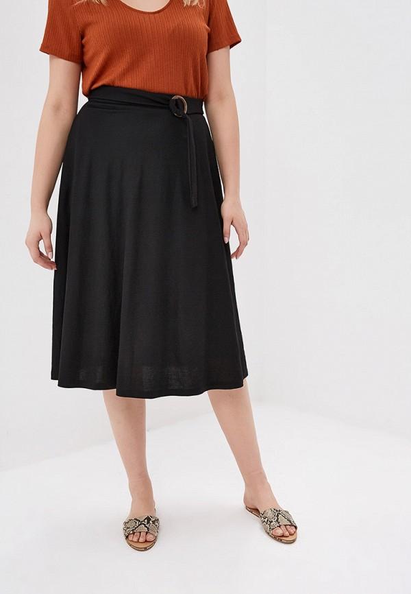 Фото - женскую юбку Violeta by Mango черного цвета