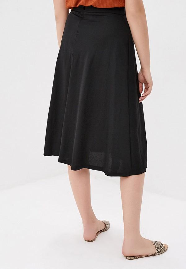 Фото 3 - женскую юбку Violeta by Mango черного цвета