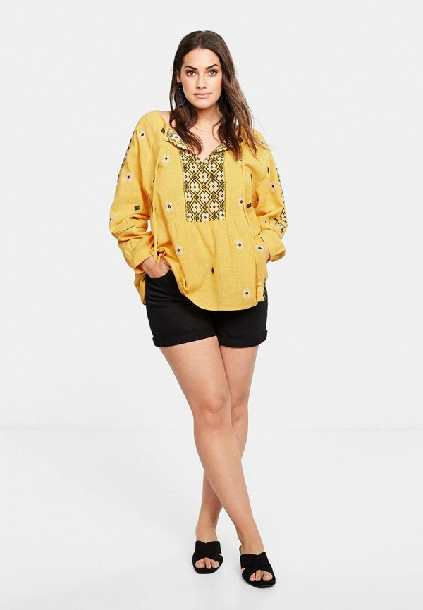 Фото 2 - женскую блузку Violeta by Mango желтого цвета
