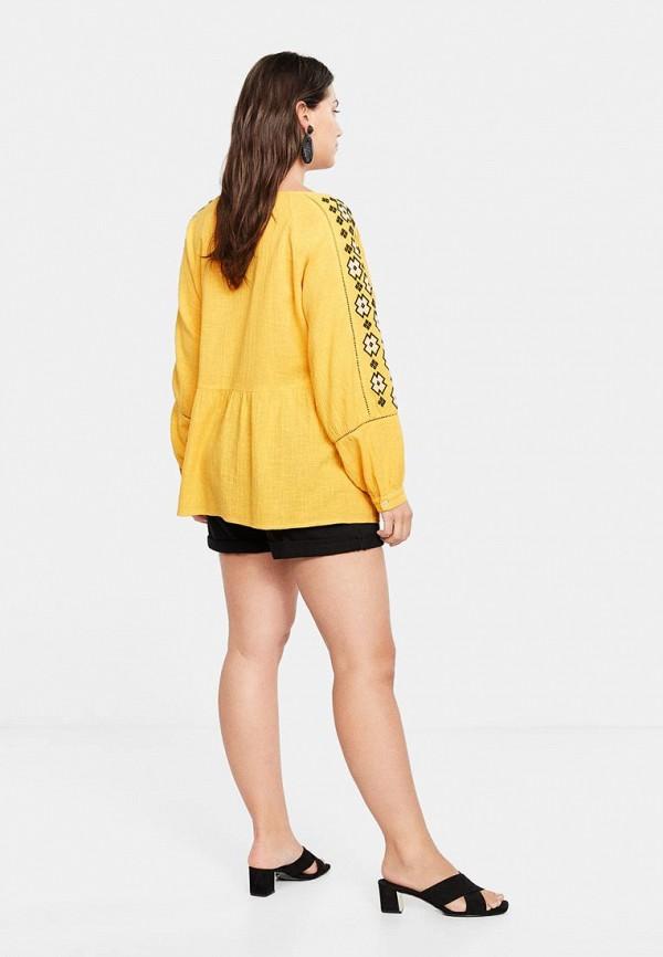 Фото 3 - женскую блузку Violeta by Mango желтого цвета