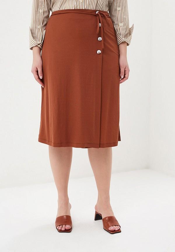 Фото - женскую юбку Violeta by Mango коричневого цвета