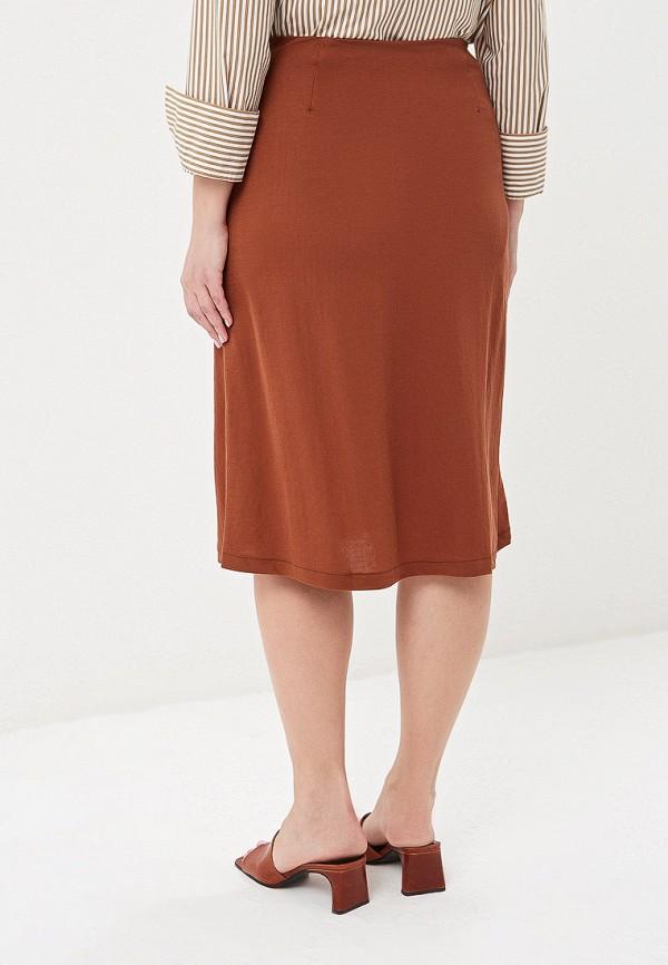 Фото 3 - женскую юбку Violeta by Mango коричневого цвета