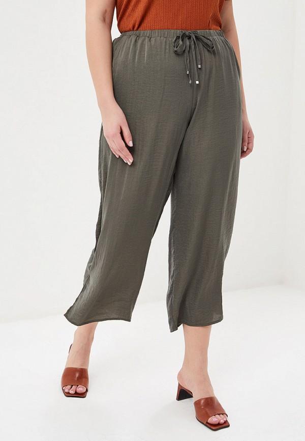 Фото - женские брюки Violeta by Mango цвета хаки