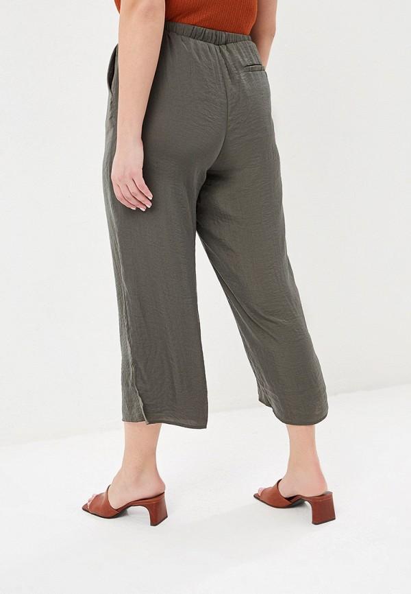 Фото 3 - женские брюки Violeta by Mango цвета хаки