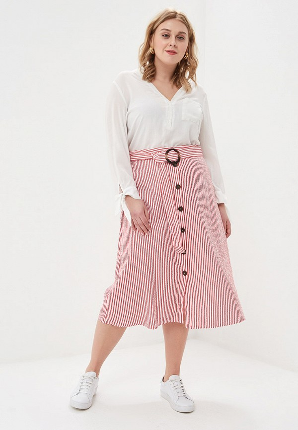 Фото 2 - женскую юбку Violeta by Mango красного цвета