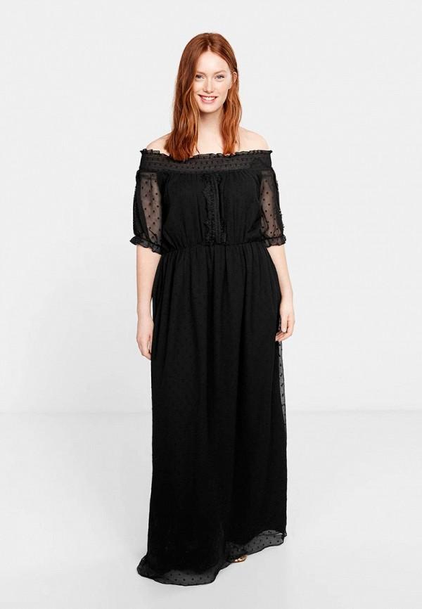 Фото - Женское платье Violeta by Mango черного цвета