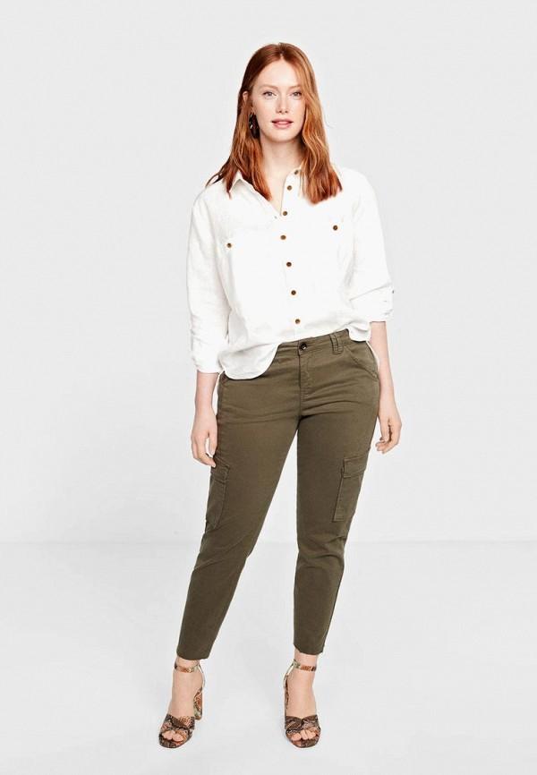 Фото 2 - женскую блузку Violeta by Mango белого цвета