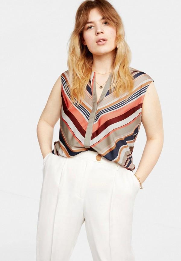 Фото - женскую блузку Violeta by Mango разноцветного цвета
