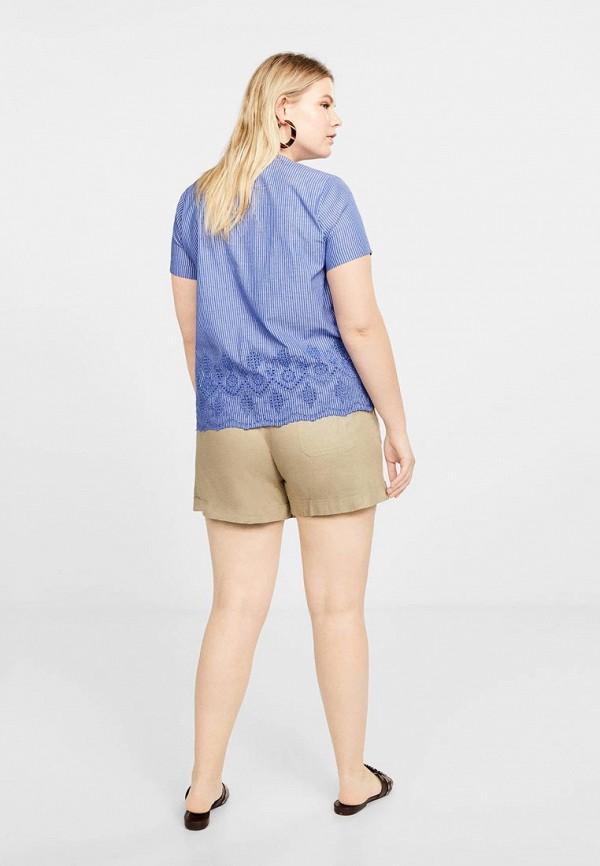 Фото 3 - женскую блузку Violeta by Mango синего цвета