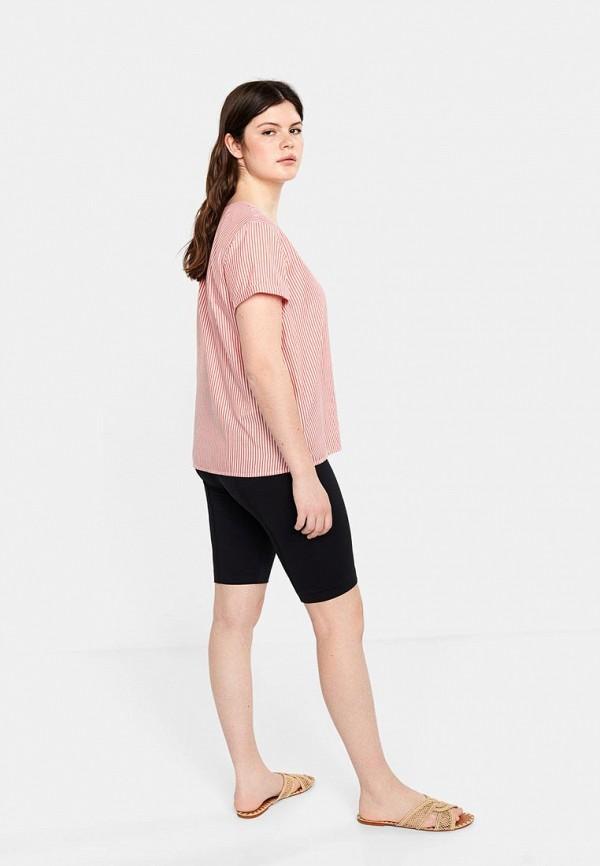 Фото 3 - женскую блузку Violeta by Mango розового цвета