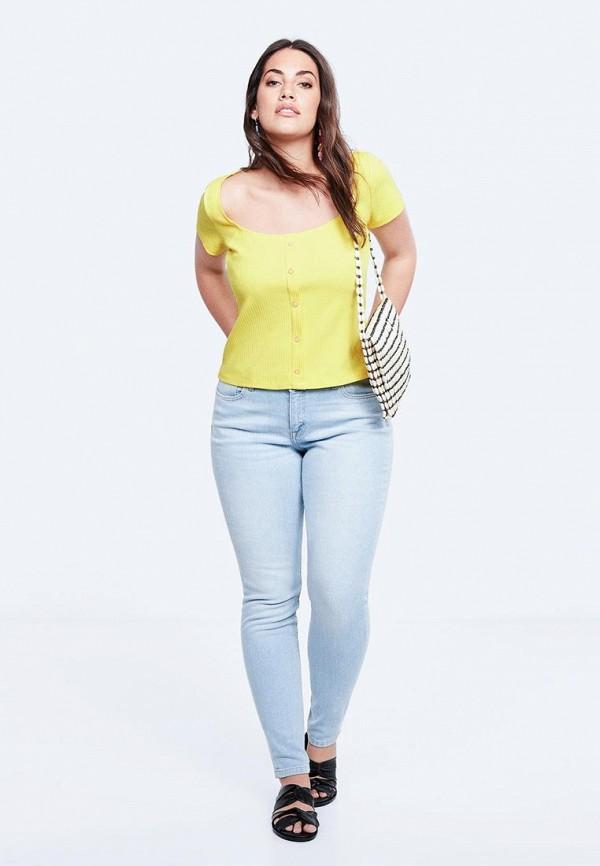 Фото 2 - женскую футболку Violeta by Mango желтого цвета