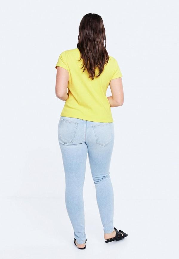 Фото 3 - женскую футболку Violeta by Mango желтого цвета