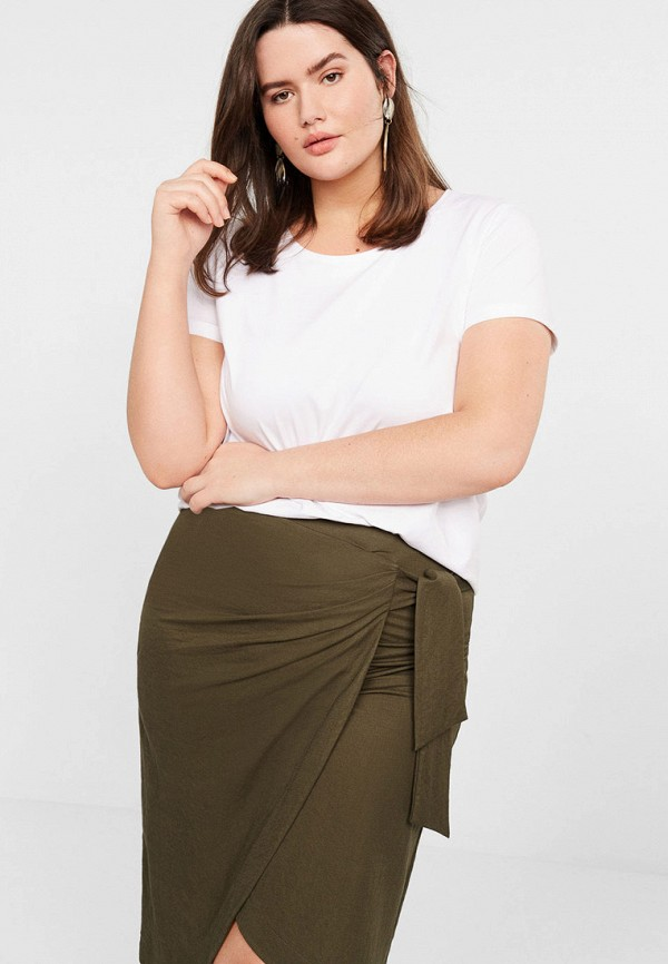 Купить женскую футболку Violeta by Mango белого цвета