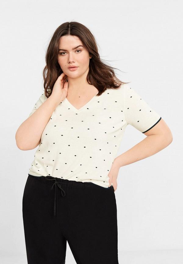 Купить женский пуловер Violeta by Mango белого цвета