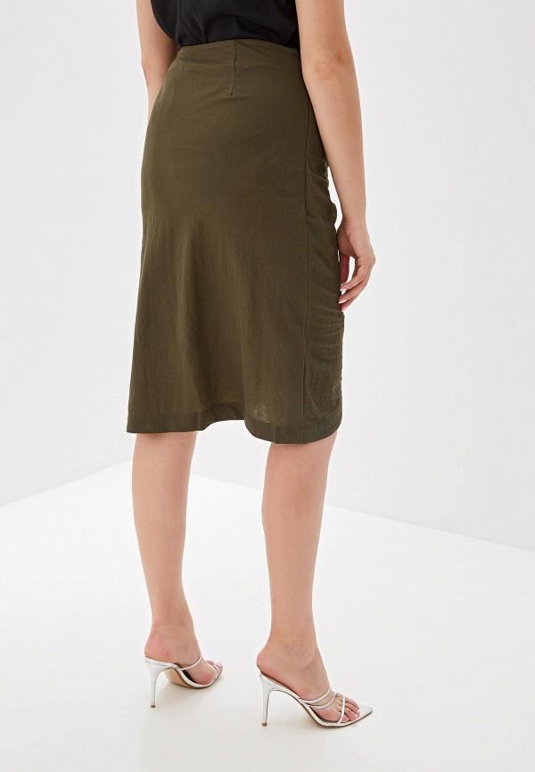 Фото 3 - женскую юбку Violeta by Mango цвета хаки