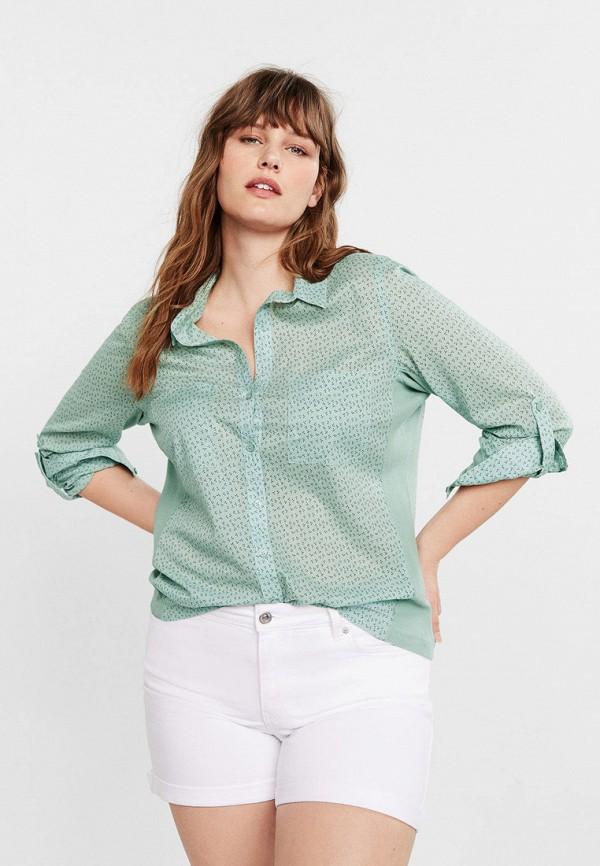 Купить женскую блузку Violeta by Mango бирюзового цвета