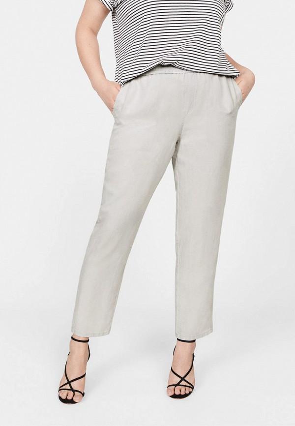 Купить женские брюки Violeta by Mango серого цвета
