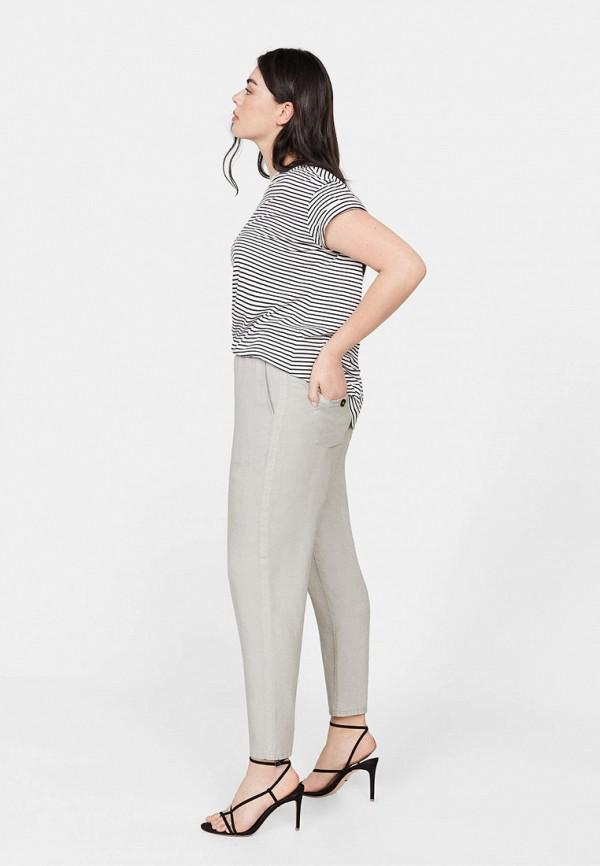 Фото 2 - женские брюки Violeta by Mango серого цвета