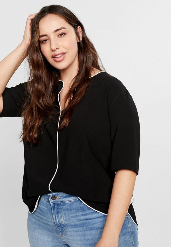 Фото - женскую блузку Violeta by Mango черного цвета