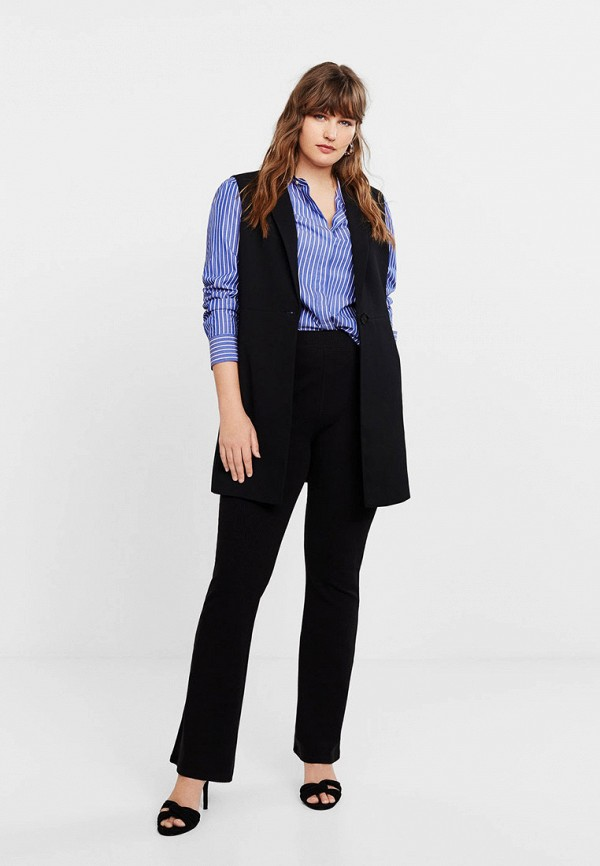 Фото 2 - женский жилет Violeta by Mango черного цвета