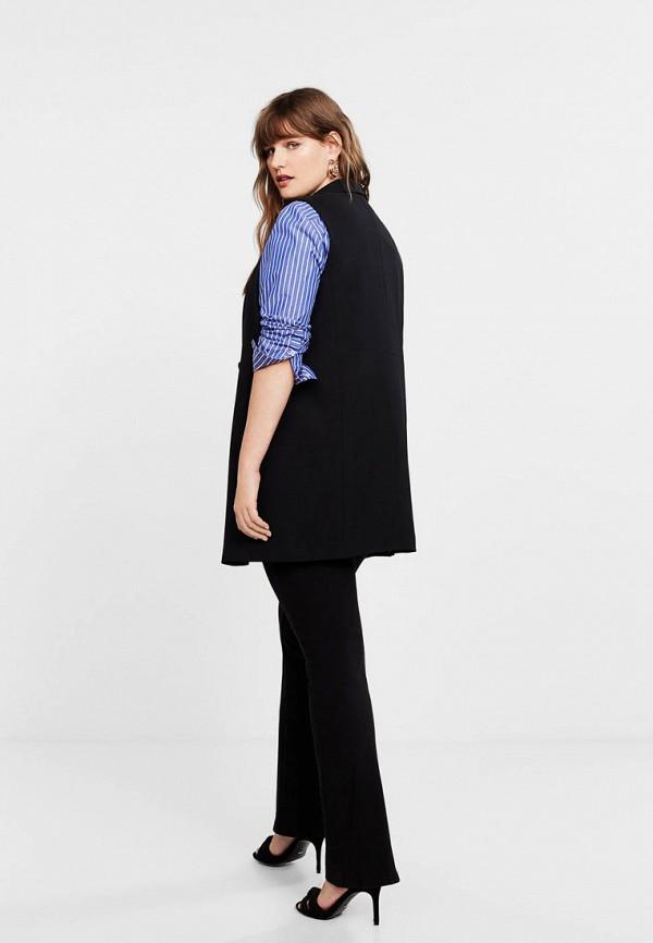 Фото 3 - женский жилет Violeta by Mango черного цвета