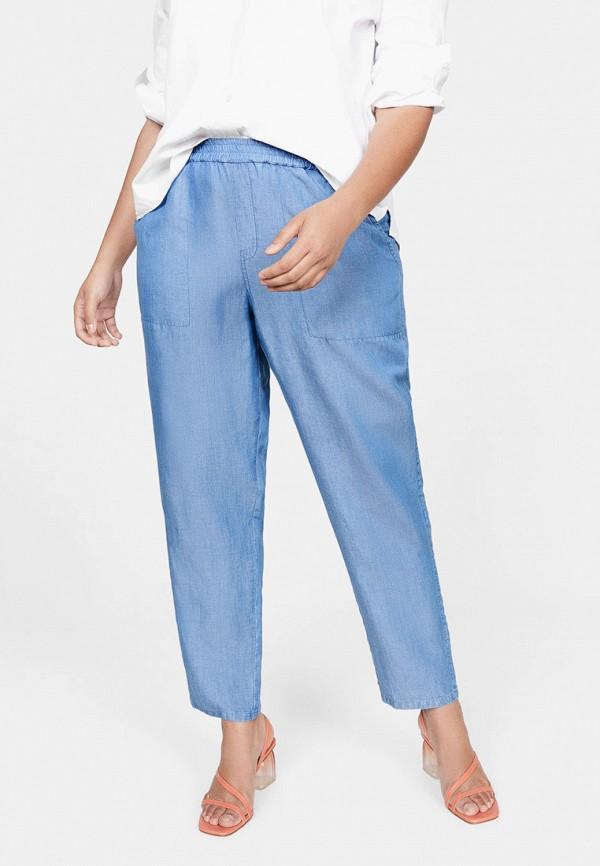 женские повседневные брюки violeta by mango, голубые