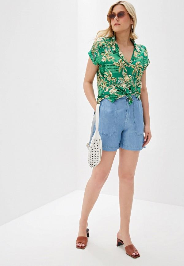 Фото 2 - Шорты джинсовые Violeta by Mango голубого цвета