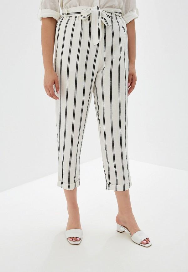 Фото - женские брюки Violeta by Mango белого цвета