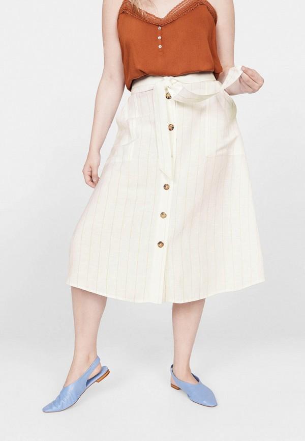 Купить женскую юбку Violeta by Mango бежевого цвета