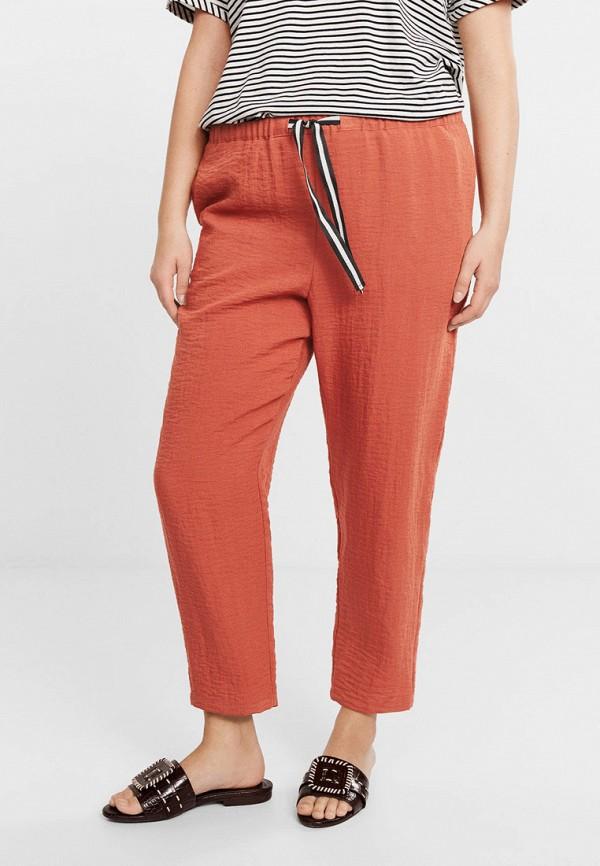 Купить женские брюки Violeta by Mango оранжевого цвета