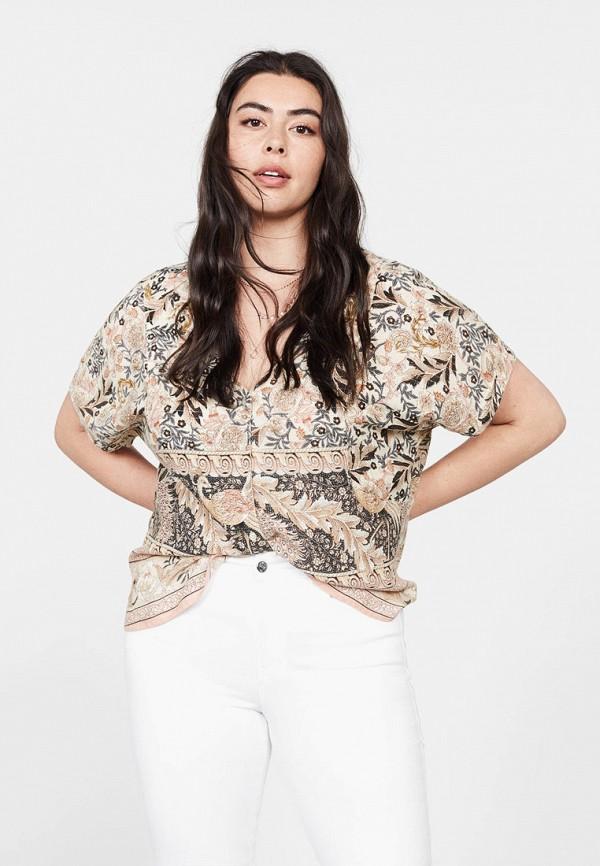 Купить женскую блузку Violeta by Mango разноцветного цвета