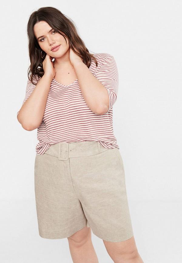 Купить женскую футболку Violeta by Mango розового цвета