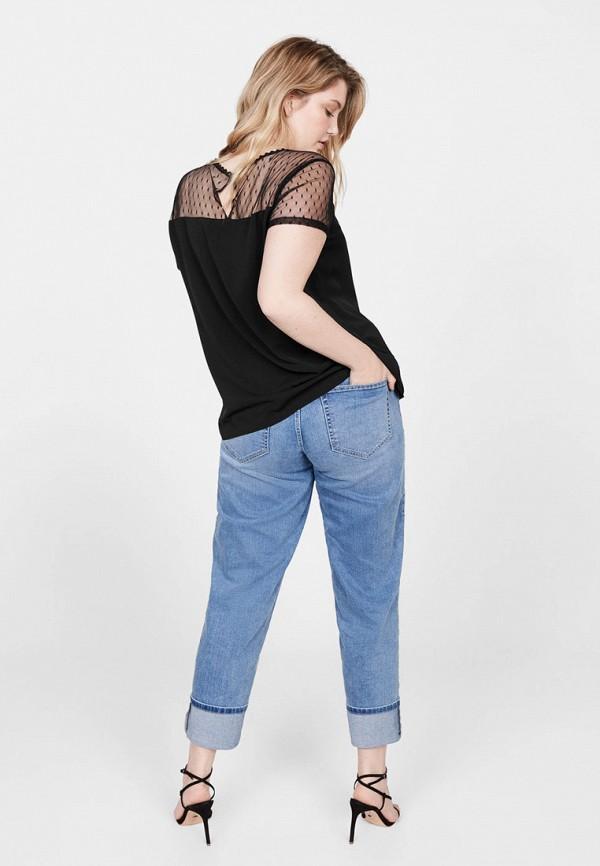 Фото 3 - женскую футболку Violeta by Mango черного цвета