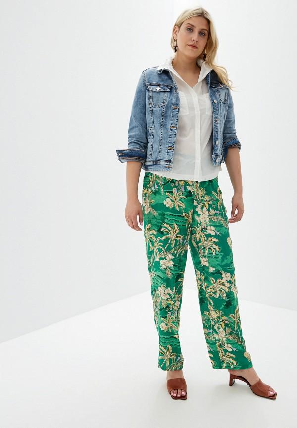 Фото 2 - Куртку джинсовая Violeta by Mango синего цвета