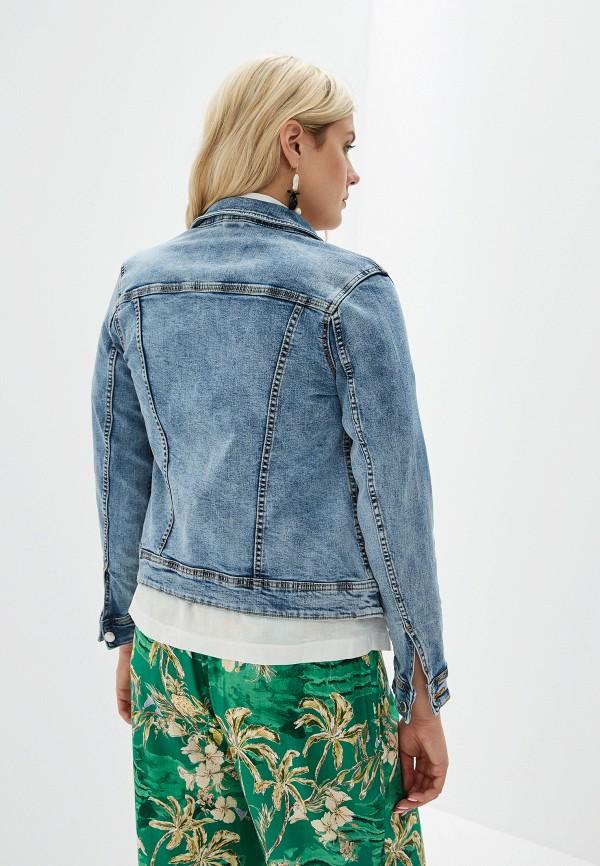 Фото 3 - Куртку джинсовая Violeta by Mango синего цвета